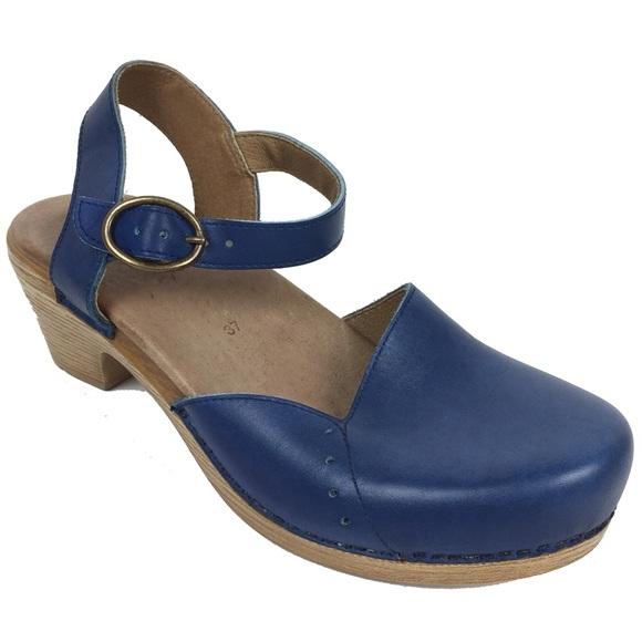 29657b2defd3 Dansko Shoes - Dansko Blue Leather Clogs Sandals Maisie Cobalt